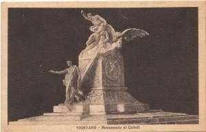 Bozzetto in gesso dello scultore E. Bazzaro