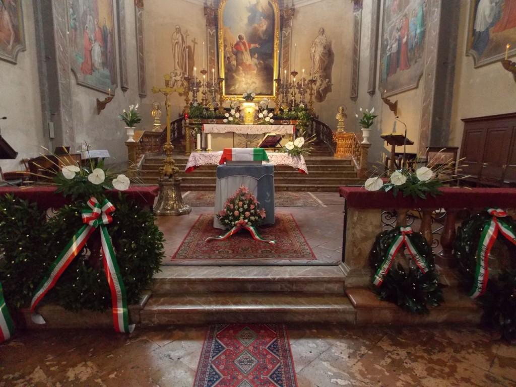 La cassetta con i resti mortali di Saino Vincenzo nella chiesa di San Carlo
