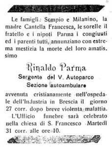 Parma Rinaldo  27-12-18 pag 3 necrologio