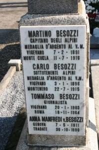 Lapide sulla tomba di famiglia