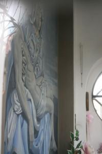 """Affresco """" La Pietà"""" opera di Cogliati"""