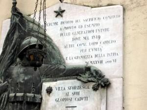 Monumento ai Caduti Villa Sforzesca