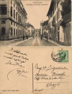 Da Vigevano per Oleggio 1915