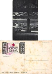 Ospedale da Guerra n° 4 in un granaio