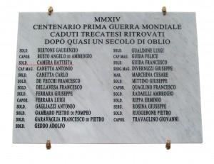 Lapide Caduti 1915-1918 inaugurata il 26-10-2014