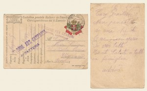 Cartolina postale in franchigia del 18 luglio 1917