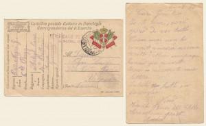 Cartolina postale in franchigia del 20 luglio 1917