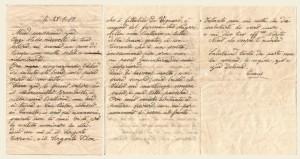 Lettera del 28 luglio 1917