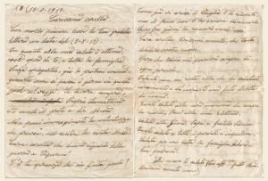 Lettera del 13 agosto 1917