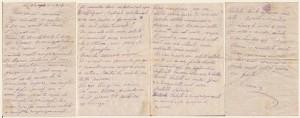 Lettera del 30 agosto 1917