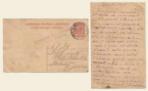 Cartolina postale del 31 agosto 1917
