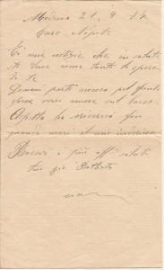 Lettera del 21 settembre 1917