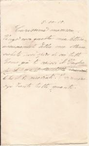 Lettera dell'8 ottobre 1917