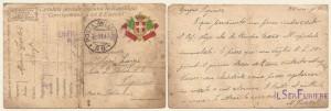 Cartolina postale in franchigia del 26 ottobre 1917 - Furiere Zorzoli