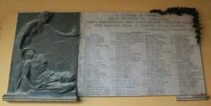 Lapide monumento ai Caduti di Gambolò
