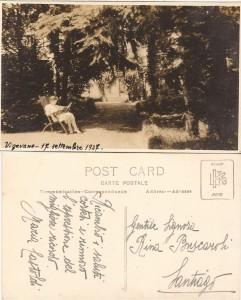 Maria Castoldi nel giardino di casa