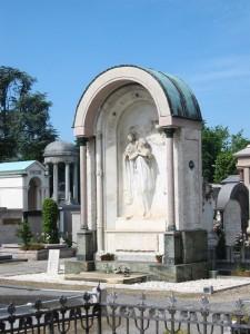 Tomba famiglia Castoldi nel cimitero di Vigevano