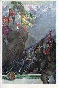Cartolina reggimentale Brigata Alpi
