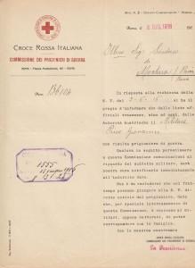 Comunicazione C.R.I. 8 giugno Picco Giovanni non risulta prigioniero