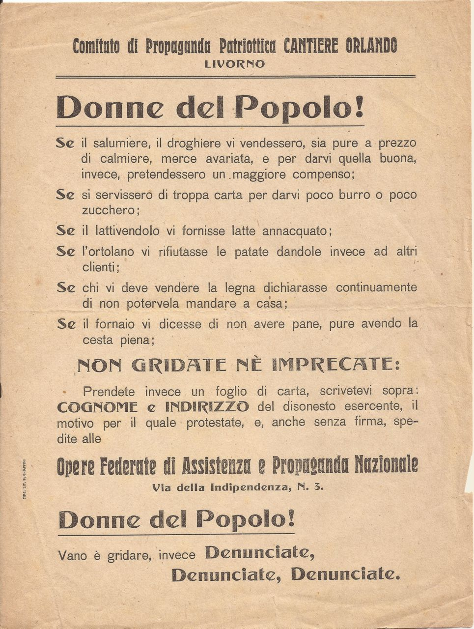 Donne del popolo - Cantiere Orlando Livorno
