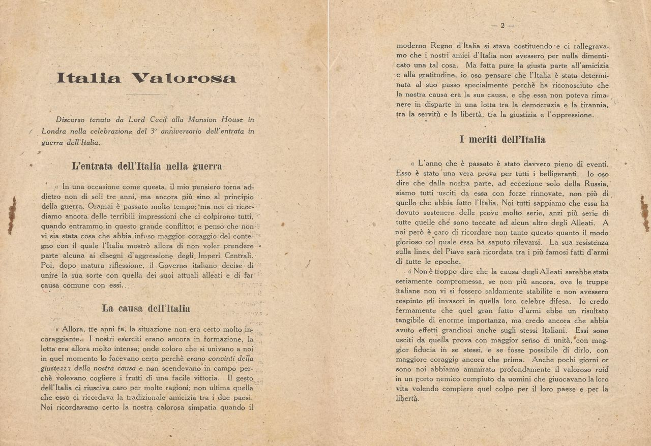 Italia Valorosa 1918 - 01