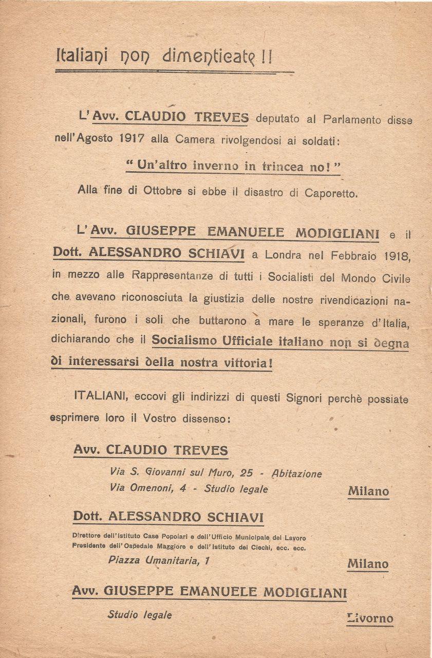 Italiani non dimenticate