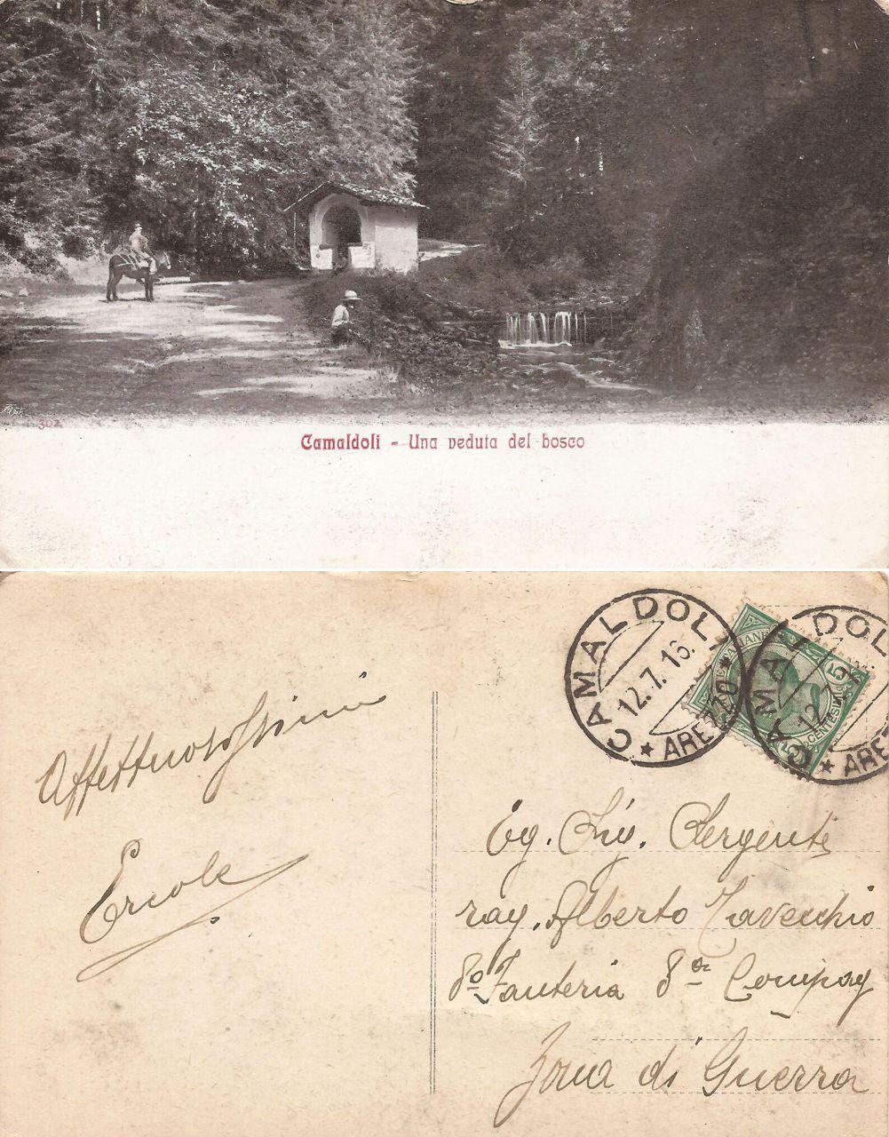 Sergente Tavecchio - zona di guerra 1916
