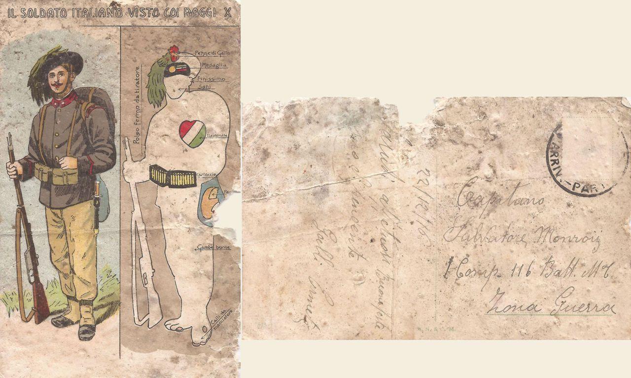 Soldato italiano visto coi raggi X