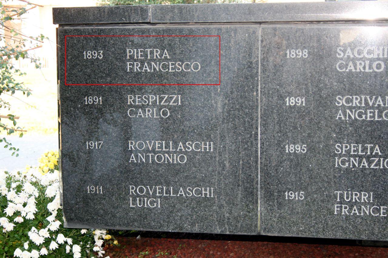 Monumento ai Caduti nel Cimitero di Besate