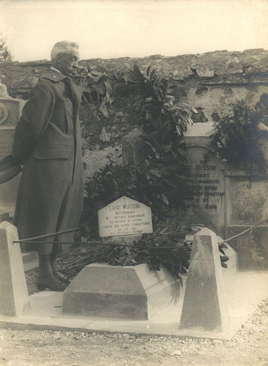 La prima sepoltura del Sottotenente Mussini