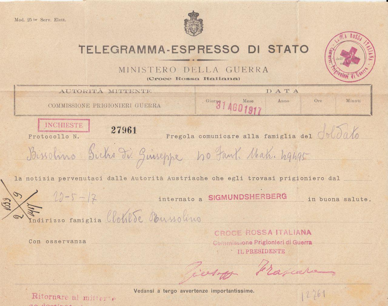 Bissolino Pietro - Sigmundherberg