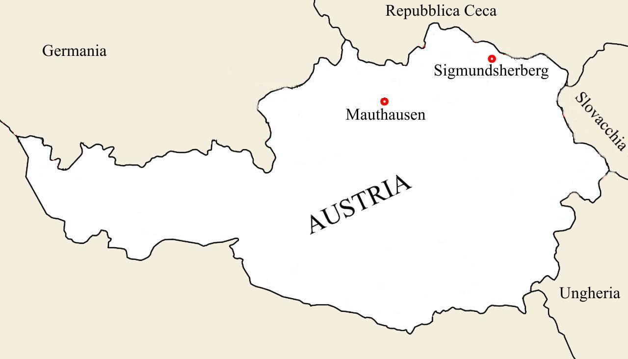 Mappa campi di concentramento Austriaci
