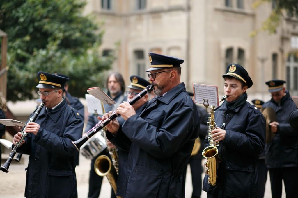 Alcuni componenti della Banda Santa Cecilia