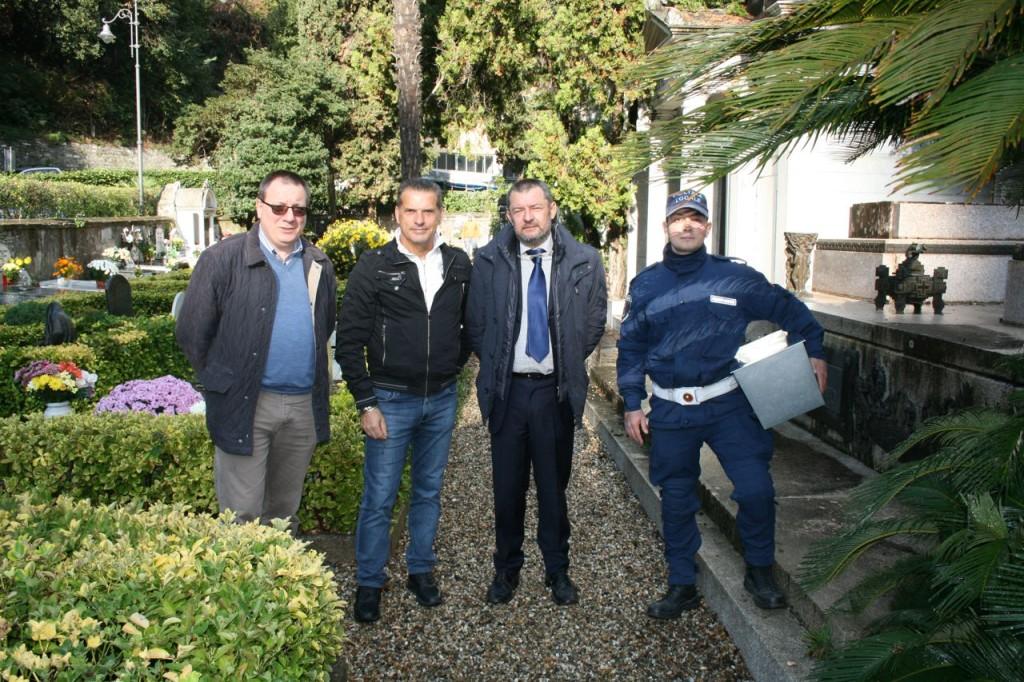 Da sinistra Marco Raso - Luigi Fortunati - Luigi Pigola - Salvatore Failla