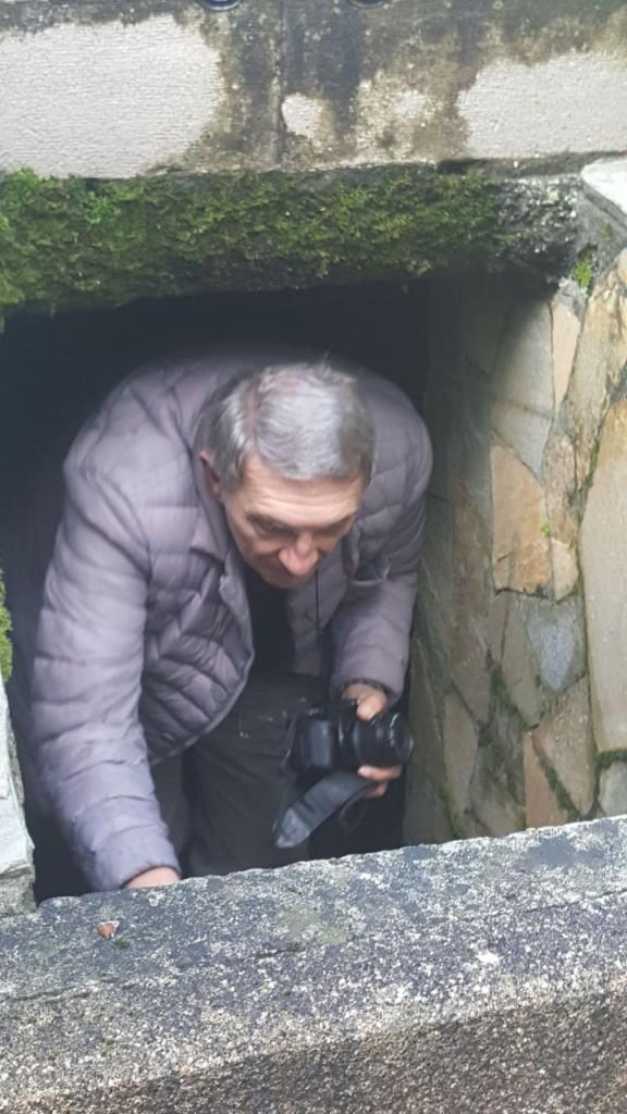 L'entrata della cripta
